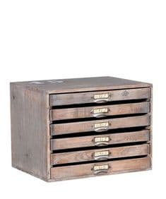 La Botaniste rustic mini drawers